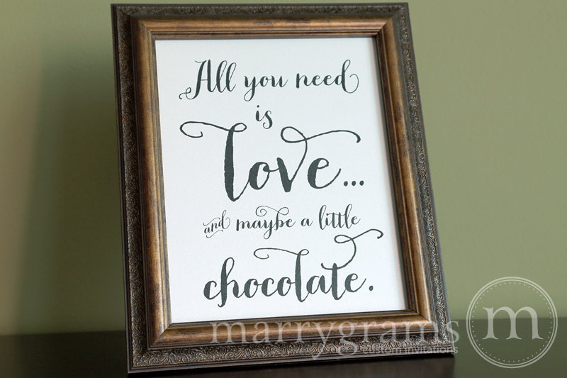 All You Need Is Love Wedding Chocolate Bar Dessert Station
