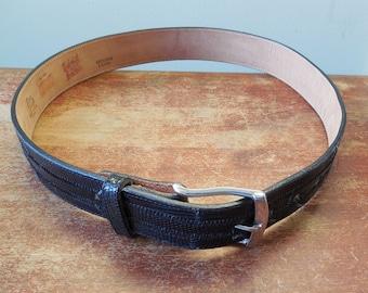 Tony Lama Black Lizard Belt - Size 30