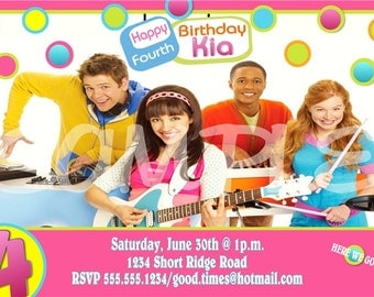 """The Fresh Beat Band Birthday Invitation or Thank You note, Personalized, Custom -DIY """"Unlimited"""" Printing"""