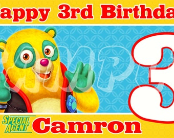 Special Agent Oso Personalized Custom Birthday Banner Party Decoration