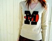 RESERVED 224 Vintage Cheerleader Sweater
