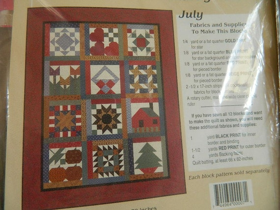 Thimbleberries Bom Kit Month By Month Pattern And