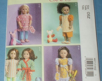 New McCall's 18' doll Clothes Pattern M6717