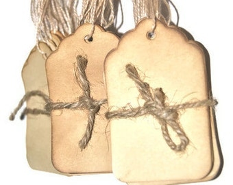 100 Coffee Stained Medium Tags . Wishing Tree Tag . Vintage Inspired Tags .primitive . rustic . wedding . gift tags . scrapbooking