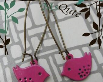 Happy Flying Birdie Earrings - ROSE