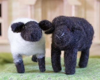 Waldorf Inspired Needle Felted Sheep made from Natural Local wool *Made To Order*