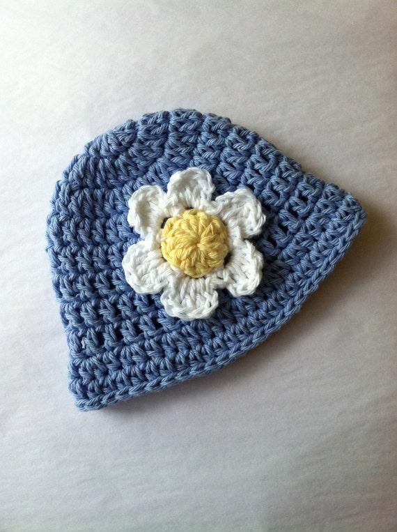 Blue Sun Hat, Crochet Baby Hat, Newborn Hat, Baby Hat, Blue Hat,  Baby Hat, Baby Girl Hat, Summer Sun Hat