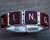 """Stretchy """"Bingo"""" Scrabble Tile Bracelet Cuff   (J- 002) Contact me for shipping rates outside the United States."""