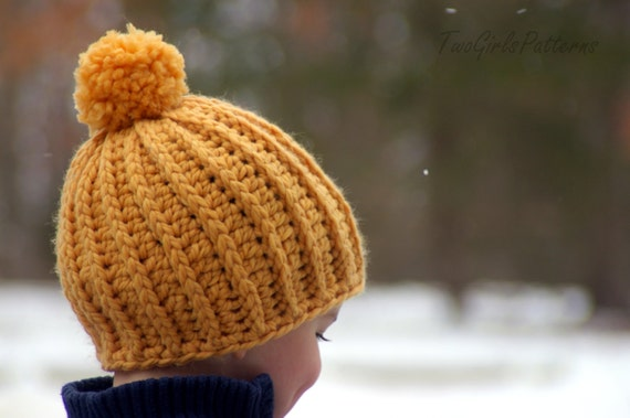 Crochet Patterns That Look Like Knitting : Crochet Hat Patterns - Awesome Knit Look Hat - five sizes included ...