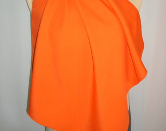 Vintage 1970's Tress-Up of New Orleans Solid Orange Scarf