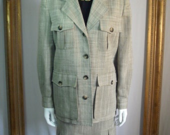 Vintage 1970's Evan-Picone 2-Piece Grey Suit - Small