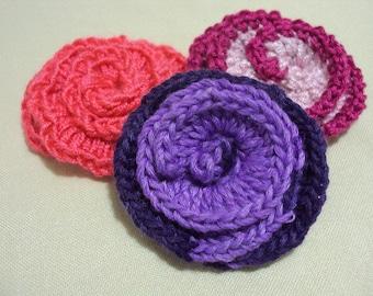 Hand crocheted Flower Tutorial, PDF Crocheted Flowers Pattern, DIY Flower Ornament