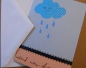 Sympathy card, Handmade card, behind every cloud is the sun, Stationery