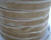 Velvet Ribbon Light Brown 10 yards 10mm wide