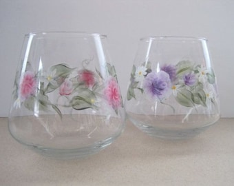 Blooming Roses Candle Glassware