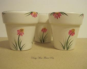 Tealight Mini Flower Pots Set of three