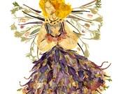 Woodland Faery  - Original OOAK Fantasy Flower Fairy Art - Imagine Magick - Fine Art 8 x 10 Print