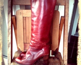 TRAIPSE   ///    70s Distressed Leather Boots