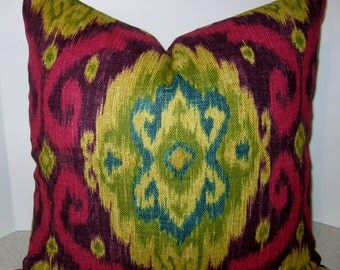 Both Sides 24 X 12 Ikat Lumbar Pillow Cerva Ii Pool By