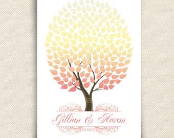 Spring Wedding Signature Tree Guest book Print - The Seaswik - A Peachwik Interactive Art Print - 175 guests