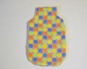 Cozy Hot Water Bottle Cover -  Multicoloured Spots, Extra Cuddly Cozy, Winter Warmer