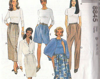 McCalls 8845 Sewing Pattern Slacks and skirt 8-10-12 Easy McCall's pattern