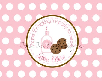 Milk and Cookies Party Favor Tags- Printable