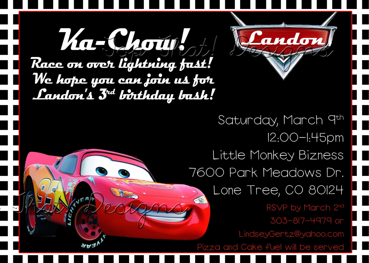 Cars Themed Birthday Invitation Printable by jenleonardini ...