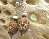 Ceramic Hedgehog Earrings