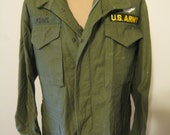 US Army M-65 Jacket with patches 3rd Army, with Rank and Wings Minty