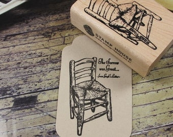 Vincent's Chair Rubber Stamp