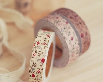 Decorative Adhesive Fabric Floral Pattern Masking Tape