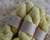 Organic Naturally Dyed Worsted Weight Farm Yarn / Full Belly Feel Good : Daffofil