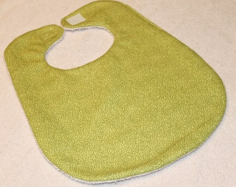 Green Flannel Baby Bib