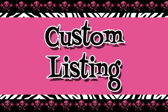 Custom LIsting for Samantha Barba
