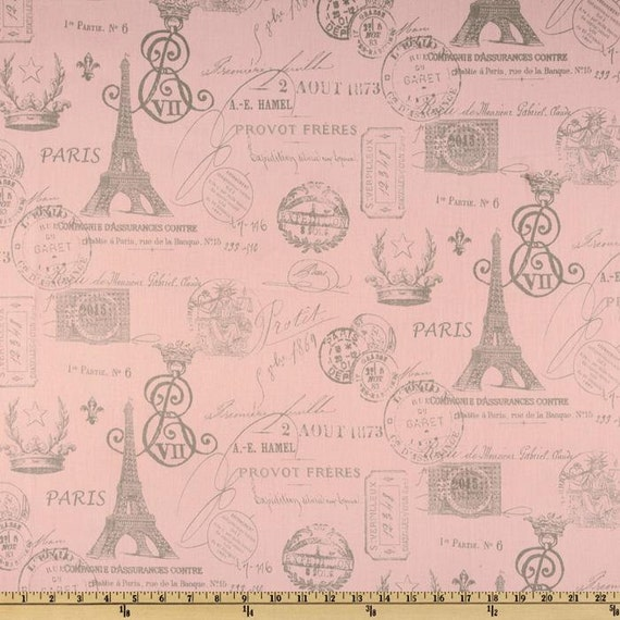 "Two  96"" x 50""  Custom  Curtain Panels  -     French Stamp - Pink/Storm Grey or Hot Pink/Natural"