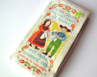 Vintage Paper Towelettes with Good-Natured Jest at the Dutch and Cleanliness, New in Package