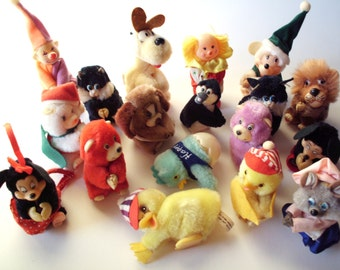 Lot of 18 Vintage Clip Animals