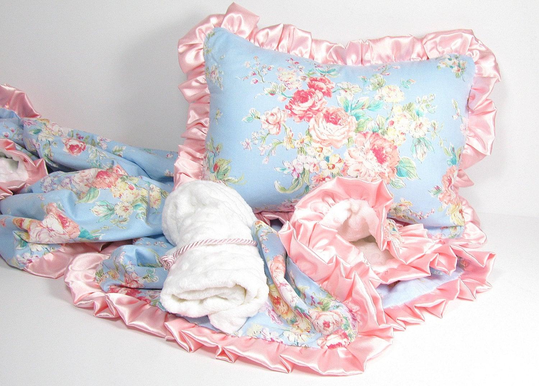 toddler bedding pink ruffle pillow blanket travel bag. Black Bedroom Furniture Sets. Home Design Ideas