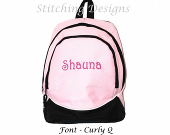 Toddler Preschool back pack Almost Indestructible LIGHT PINK with Name Included for Girl