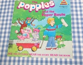 SALE the popples and the paper route, vintage 1986 children's book