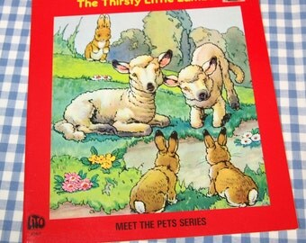 the thirsty little lambs, vintage 1970s children's book