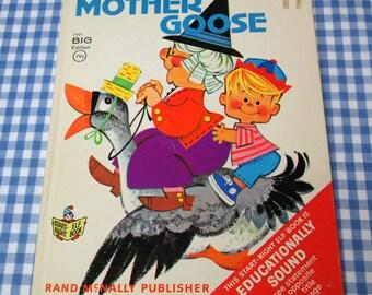 mother goose, vintage 1967 children's book
