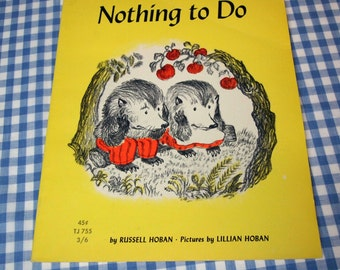 nothing to do, vintage 1966 children's book