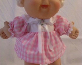"""14"""" Baby Cabbage Patch Pink and White Dress Set"""