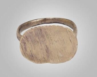 1/2 Price Sale-Authentic Ancient Byzantine Mens Ring C.600-900A.D. Size 8 (18.7mm)(brr1)