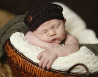 Newsboy Newborn  Hat -- Photo prop --You Choose Color!