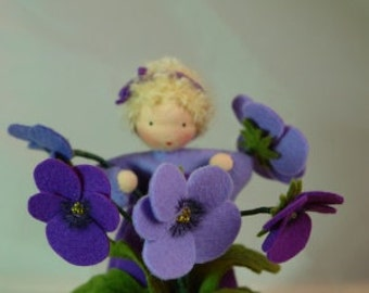 Pansy - Flower Child - Waldorf Inspired - Nature Table