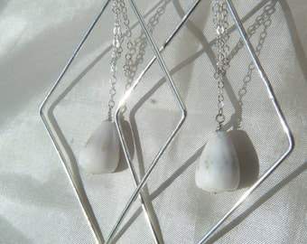 Sterling Silver Shell Earrings.