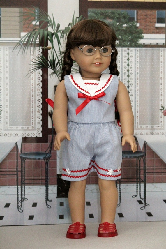 Sailor Style Shorts and Top for Molly